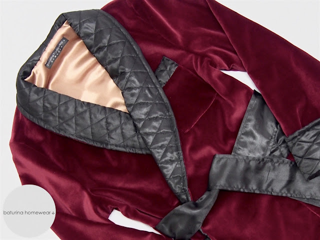 gentlemans velvet smoking jacket robe burgundy velvet quilted silk collar luxury mens robes