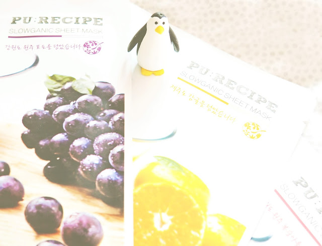 Korome Re:cipe Slowganic Sheet Masks Korean Skincare