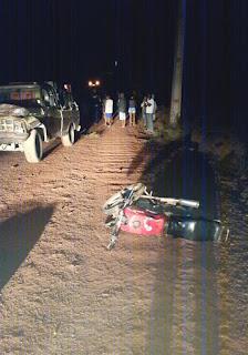 Homem morre em acidente