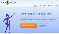 Sky Blue Credit Repair Website