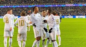 بأقدام برازيلية ريال مدريد يحقق الفوز على فريق كلوب بروج بثلاثية في دوري أبطال أوروبا
