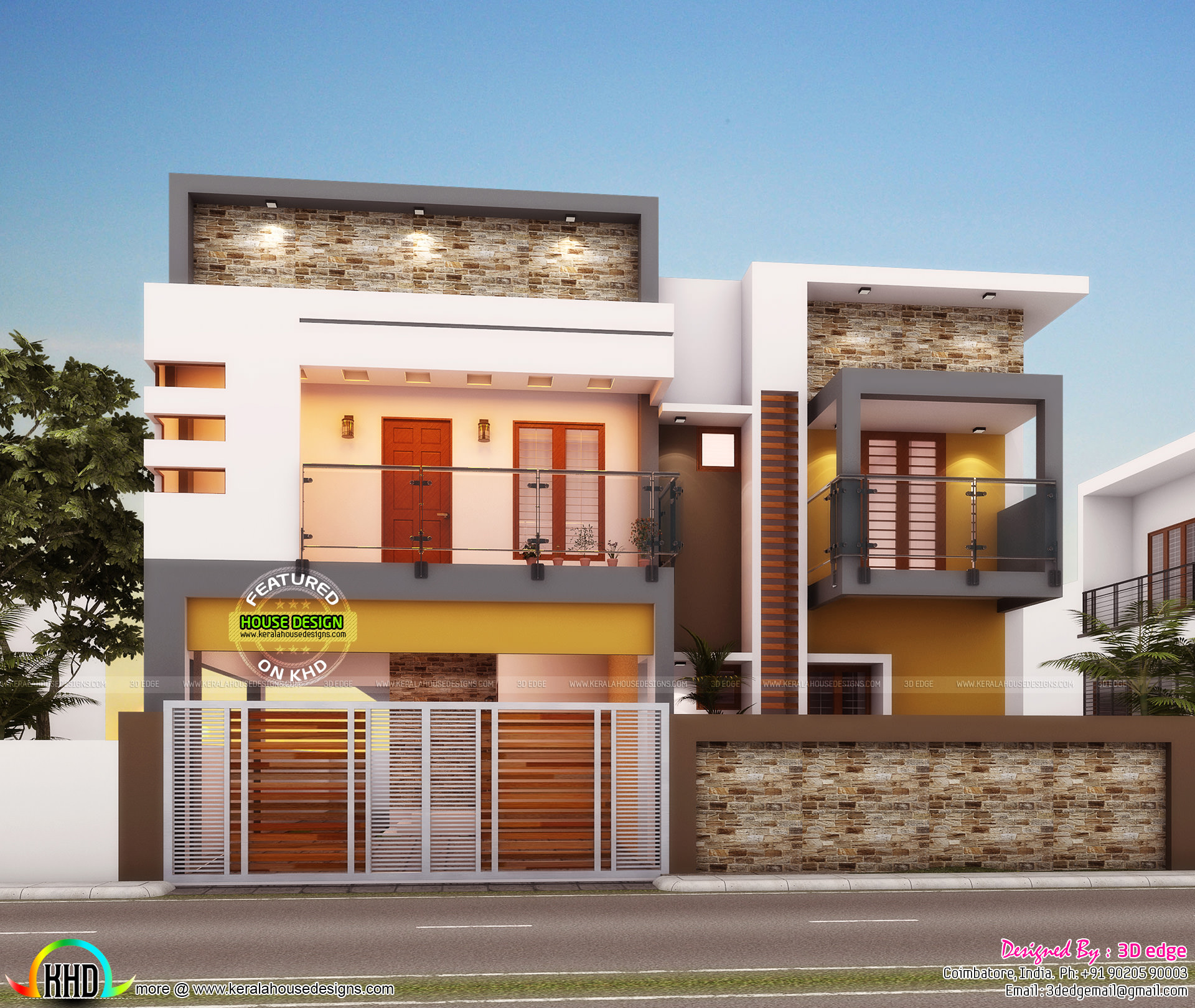 Modern Kerala Home Design: 4 Bedroom Architecture Home In Contemporary Style