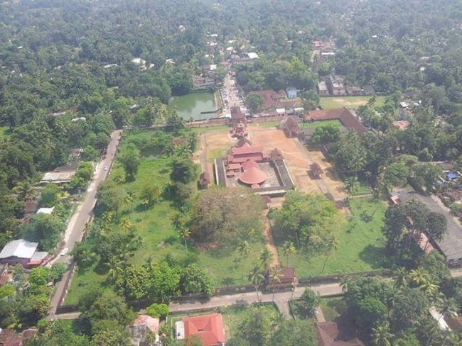 Sri Vallabha Temple Aerial View