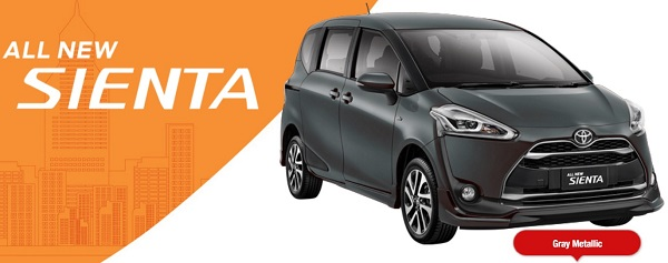 Warna Toyota All New Sienta Gray Metalic
