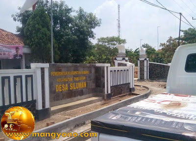 Kantor Desa Siluman, Kecamatan Pabuaran, Gapura dan pagar sebelah Kanan. Poto jepretan Mang Dawocx - Facebooker Subang ( FBS )