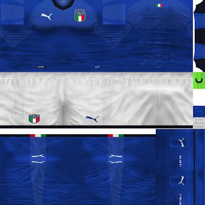 PES 6 Kits Italy National Team Season 2018/2019 by Dibu Edition