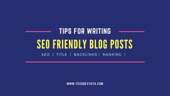 SEO-Friendly blog post