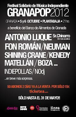 cartel granadapop granapop festival granada planta baja octubre antonio luque fon roman neuman