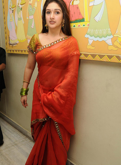 suave and glorious Sridevi pics in red hot saree
