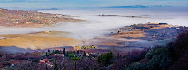 Winter Montepulciano landscape