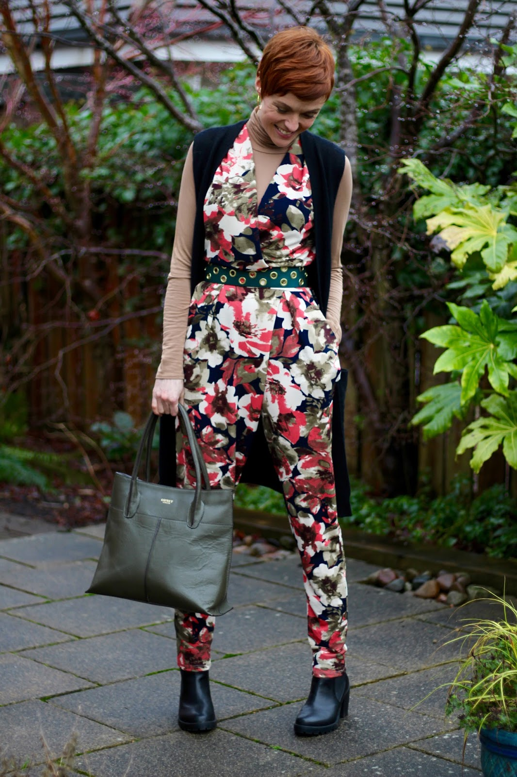 Fake Fabulous | Floral jumpsuit, over 40!