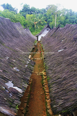 Atap rumah di Kampung Naga
