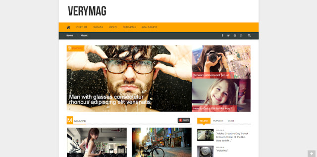 VeryMag blogger template