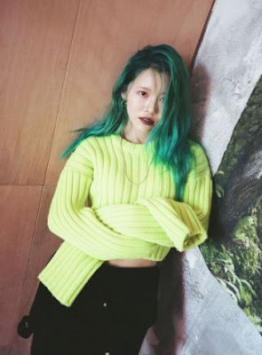 suran_south_korean_singer_green_hair
