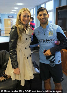Aguero and his wife Toni Duggan