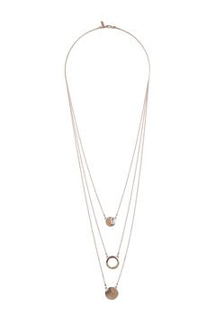 Rose gold multi circle necklace, $22 by Topshop
