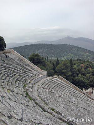 Théâtre d'Epidaure  Nauplie Nafplio Argolide Peloponnèse Grèce