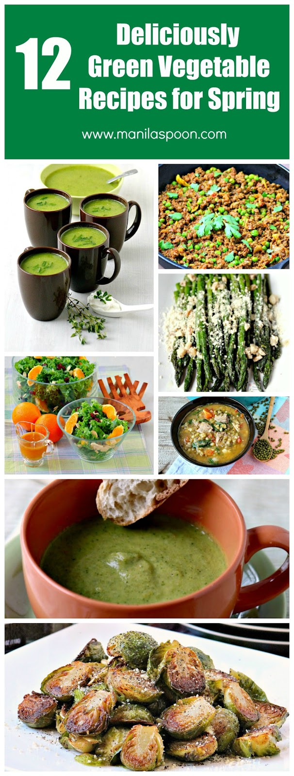 Celebrate the advent of spring with these deliciously green vegetable recipes. Tried and tested, easy recipes for the whole family! | manilaspoon.com