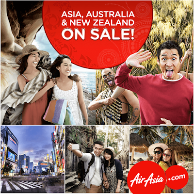 AirAsia Flight Ticket Air Fares Asia, Australia & New Zealand On Sale Discount Offer Promo