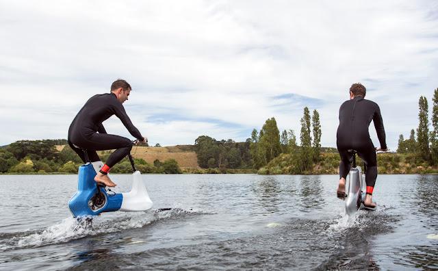 Bersepeda Diatas Air Bukan Hal Mustahil Dengan Manta5 Hydrofoiler XE-1