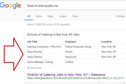 Google Akan Menampilkan Lowongan Pekerjaan Di Mesin Pencarian
