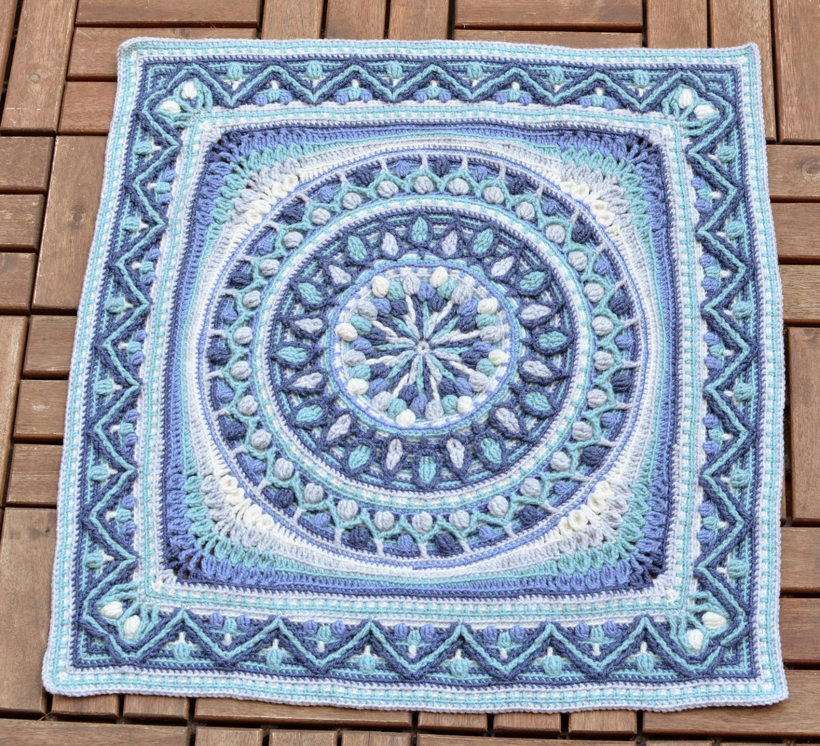 Large Crochet Squares or Second Life of Dandelion Mandala