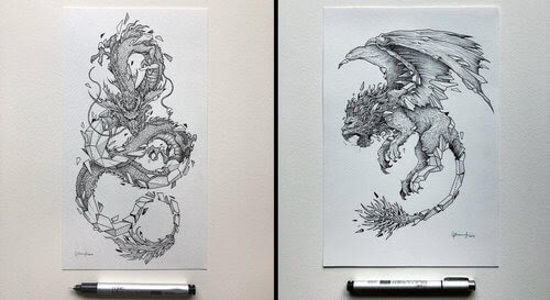 00-Kerby-Rosanes-Detailed-Fantasy-Ink-Drawings-www-designstack-co