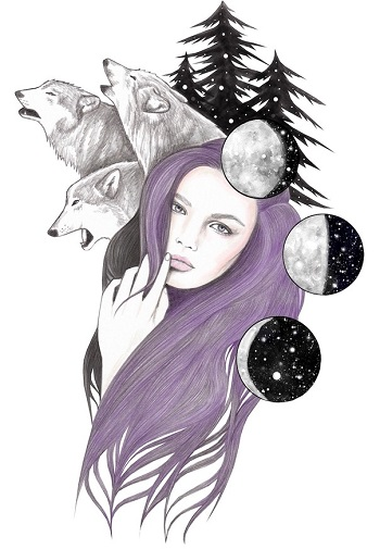 """Three Moons"" by Andrea Hrnjak 