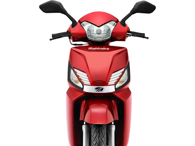 Mahindra Gusto 110 Special Edition matt red front image
