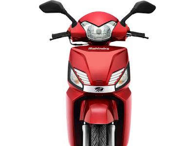 Mahindra Gusto 110 Special Edition matt red front image