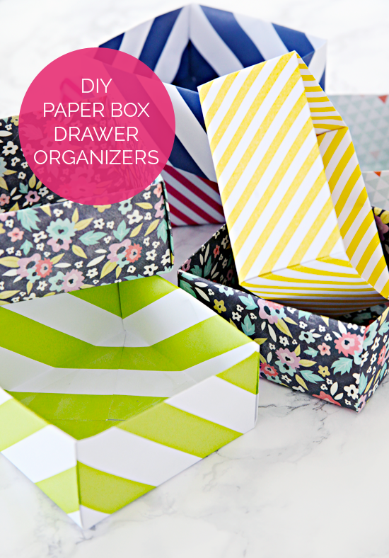 Iheart Organizing Diy Paper Box Drawer Organizers And An