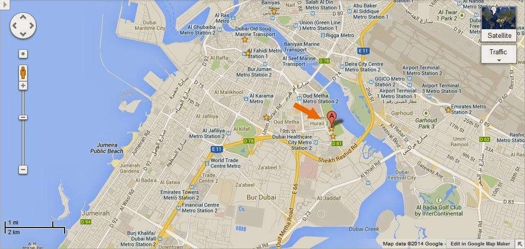 UAE Dubai Metro City Streets Hotels Airport Travel Map Info: Detail Children's City Dubai ...
