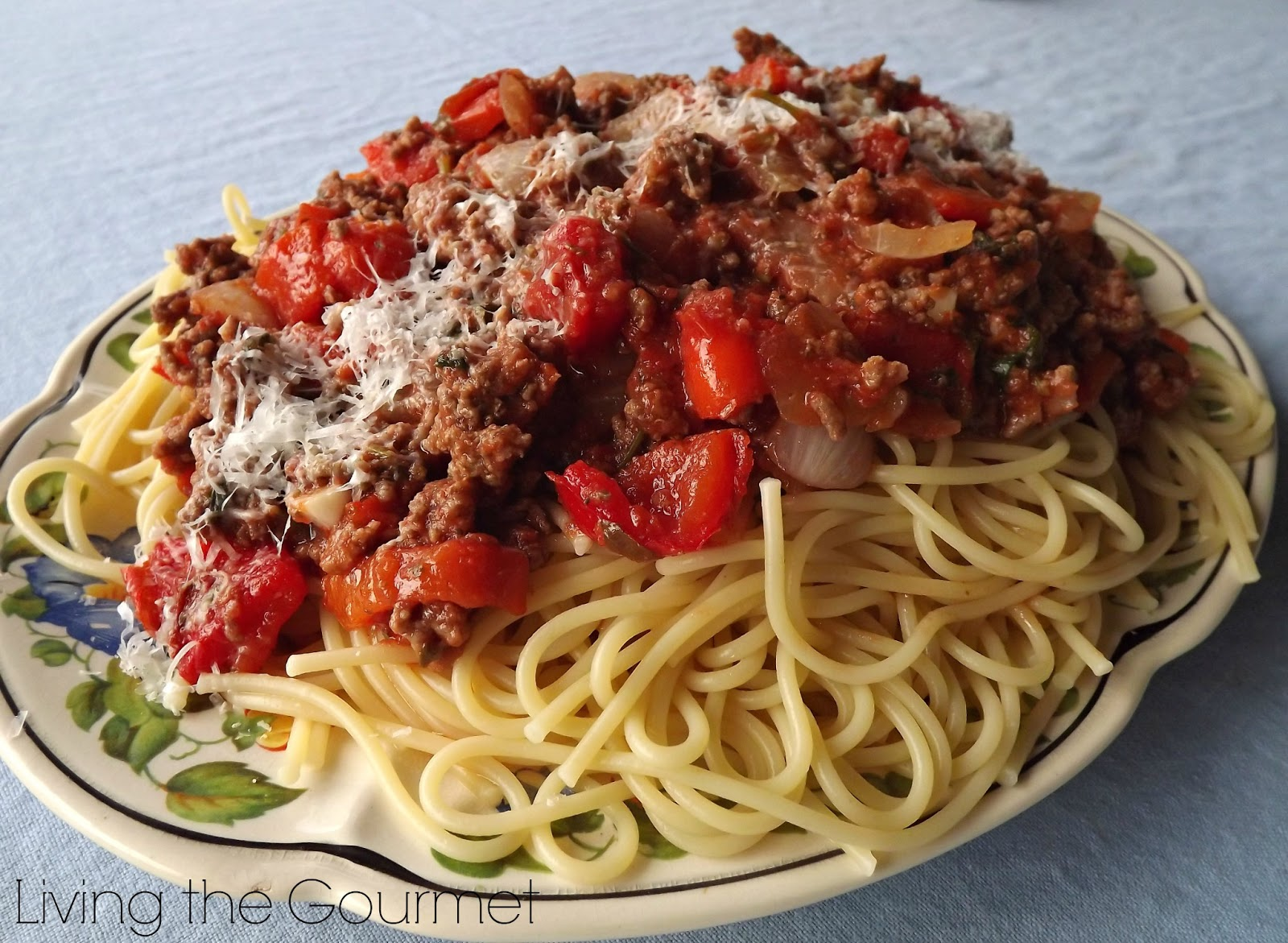 Spaghetti & Meat Sauce - Living The Gourmet