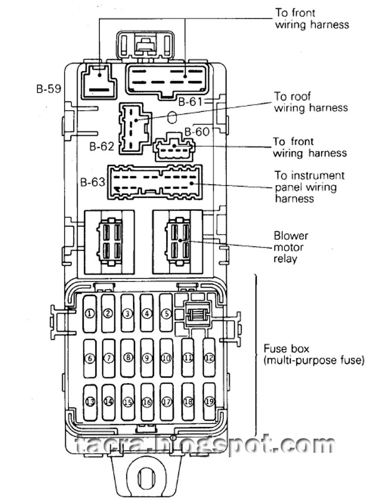 wiring diagram power window satria