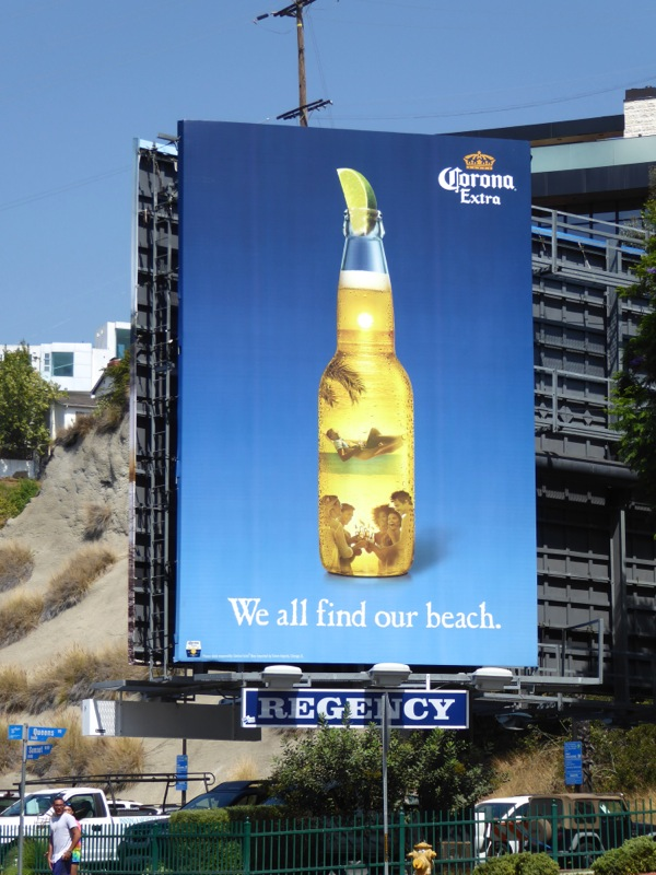 Corona Extra We all find our beach billboard