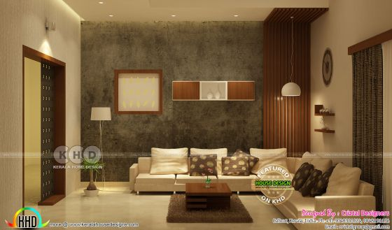 Living interior design in Kerala