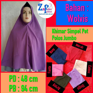 khimar simple pet bahan wolfis