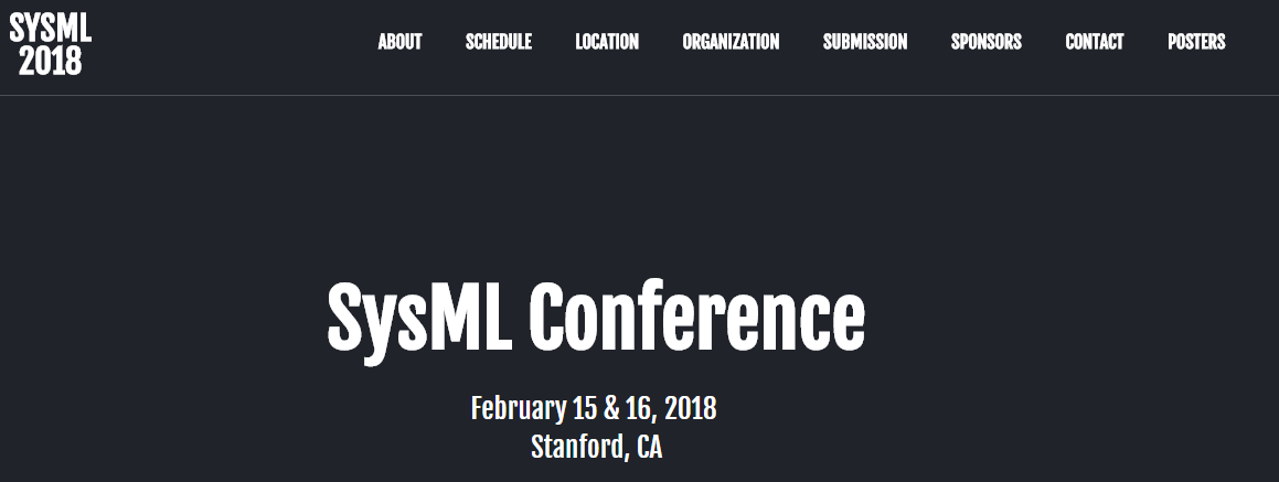 Nuit Blanche: Posters: SysML 2018 Conference