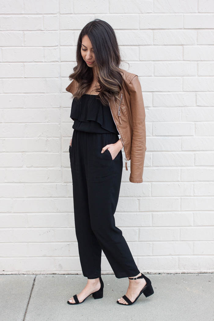 styling a black jumpsuit