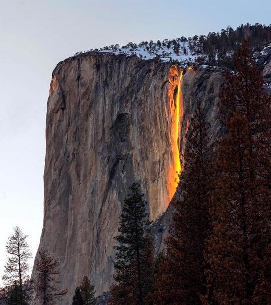 Cachoeira Horsetail em Yosemite