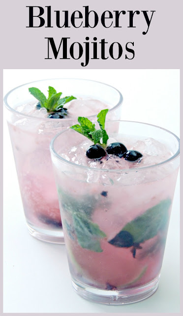 Blueberry Mojito - A little twist to the classic mojito, this blueberry version might just become your new favorite! From www.bobbiskozykitchen.com
