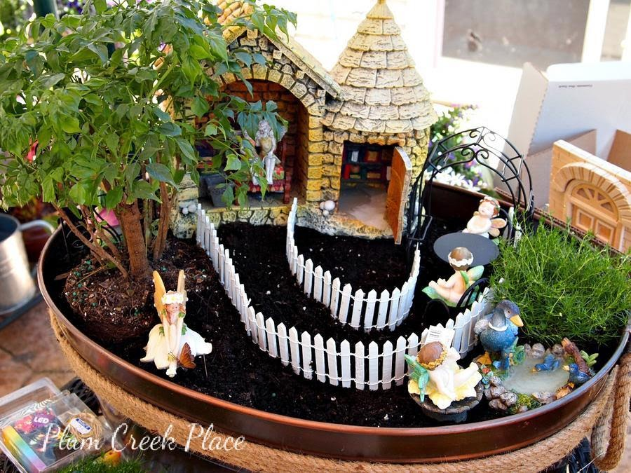 Plum Creek Place Fairy Garden tutorial