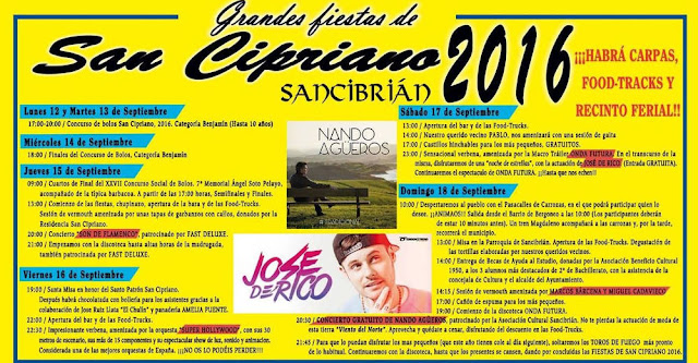 Fiestas de San Cipriano 2016 en San Cibrián