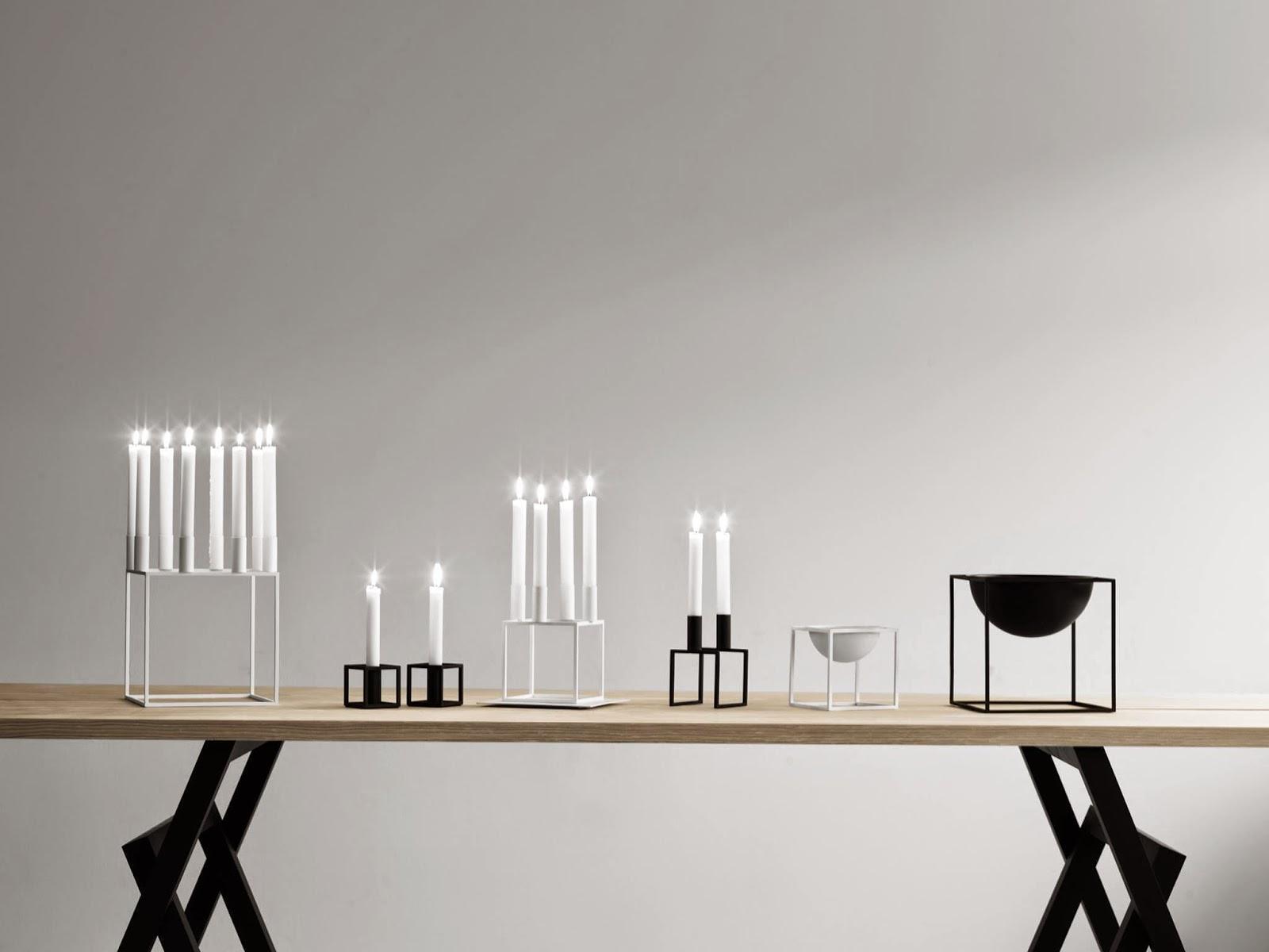 Svært designspirit: Kubus lysestaker og boller fra by Lassen SD-88