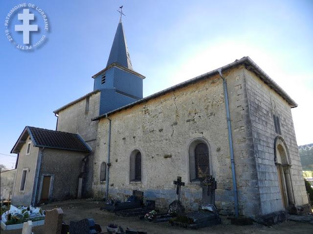 SAULVAUX (55) - Eglise fortifiée Saint-Christophe (XIIIe-XVIIIe siècles)