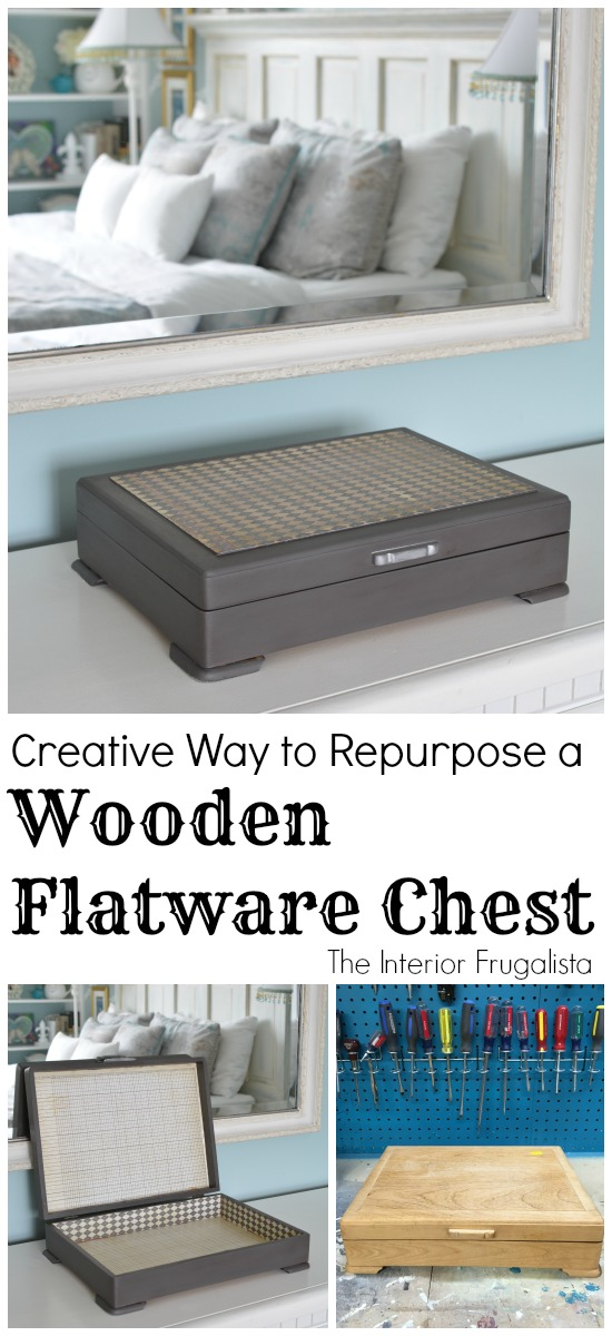 Creative Way To Repurpose A Wooden Flatware Chest
