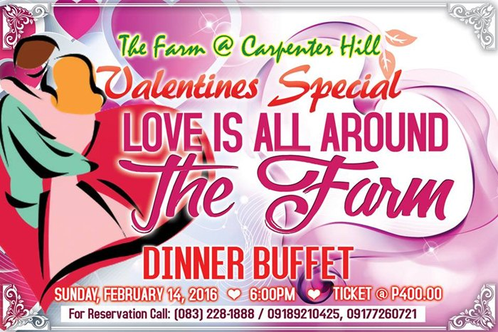 The Farm at Carpenter Hill offers dinner buffet this Valentine's Day