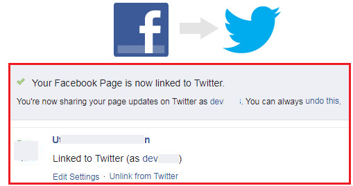 how to connect facebook page with twitter account