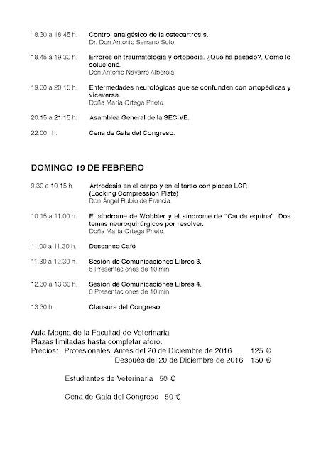 XXII Congreso Internacional de la Sociedad Española de Cirugía Veterinaria.