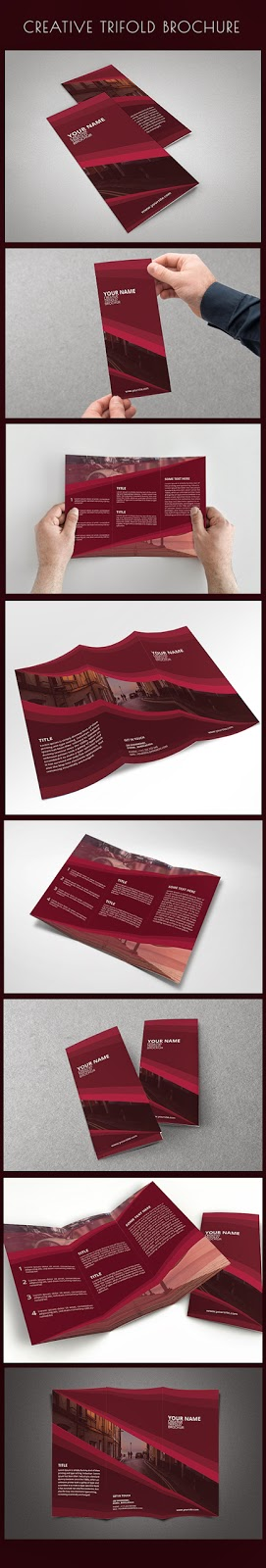 Free PSD Creative Trifold Brochure